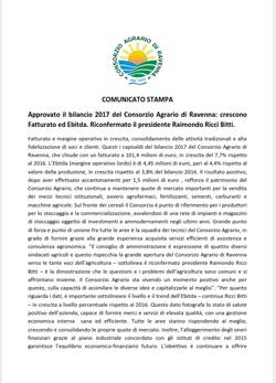 2018.06.4 Comunicato Stampa Bilancio 2017